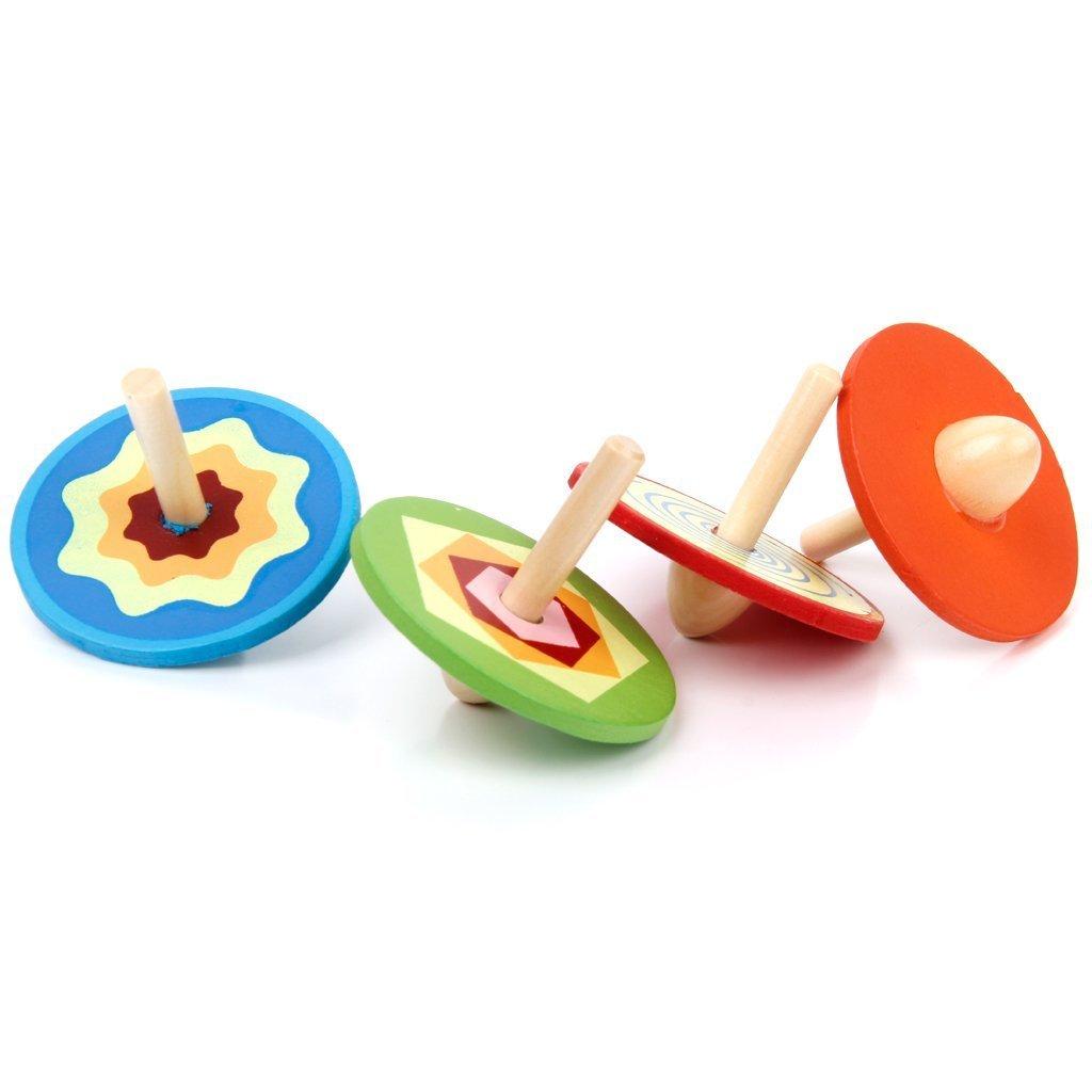 4pcs petites toupies en bois jouet traditionnel pour enfant w6q2 ebay. Black Bedroom Furniture Sets. Home Design Ideas