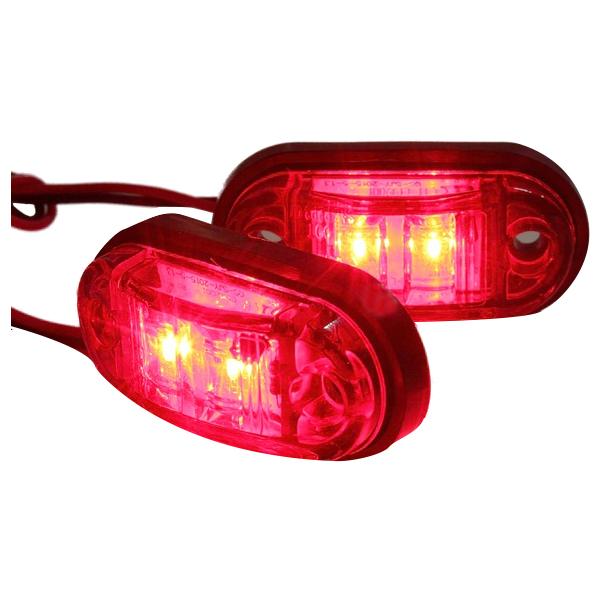 12V-24V-2-LED-Lampara-luces-de-marcador-lateral-para-remolque-camion-coche-U5 miniatura 7