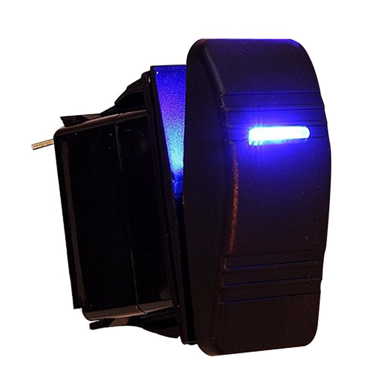 12V AUTO BOOT Wippe LED Licht beleuchtet SPST Ein-Aus Schalter ...