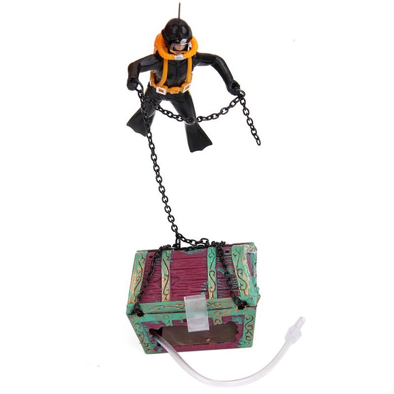 1X-treasure-Treasure-hunter-Diver-Decoration-for-Aquarium-Fish-Tank-M9Q7 thumbnail 14
