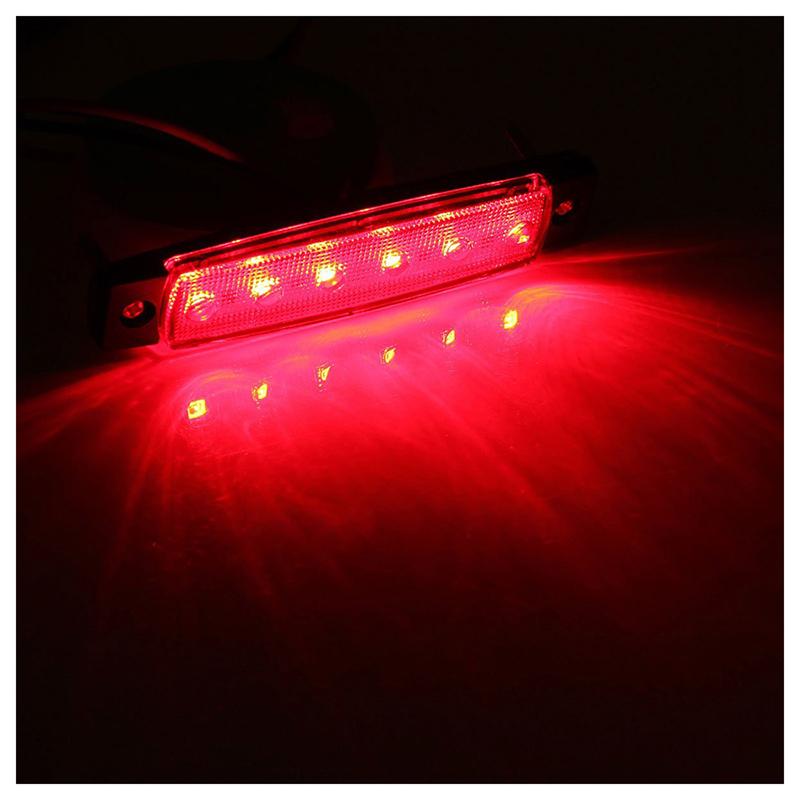 2X-12V-6-LED-Lampara-de-marcador-lateral-Faro-Luz-indicadora-para-coche-cami-T3 miniatura 12