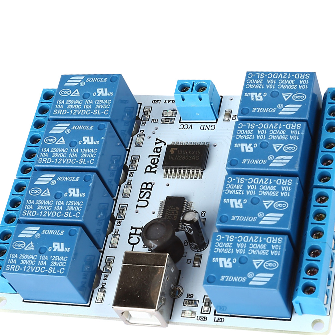Relay Modules & Boards 8-channel 12 V USB Relay Board Module