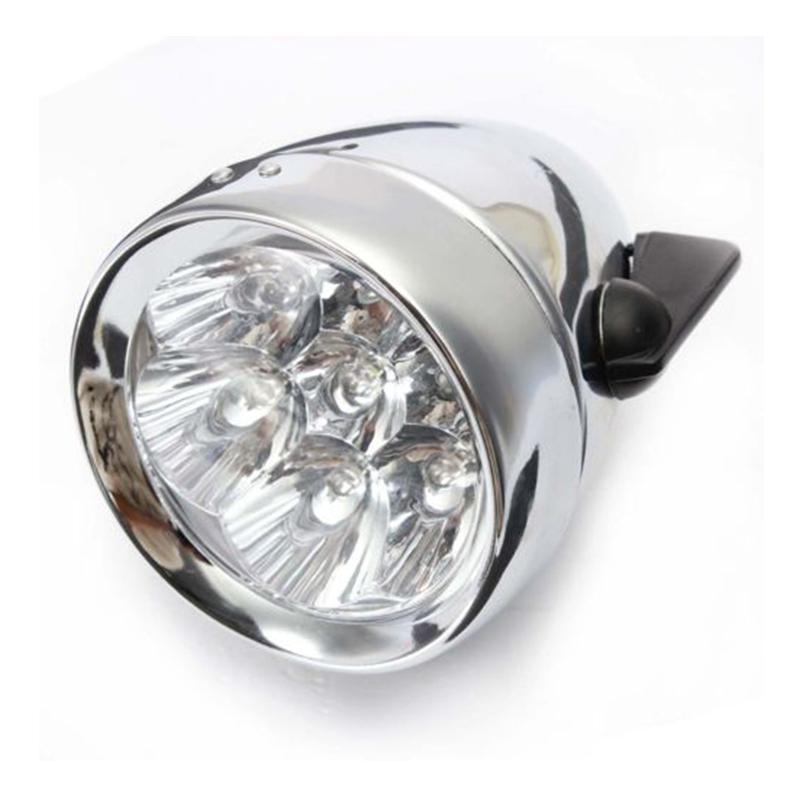20X(7 LED Lampara de Faro Vintage de Bicicleta K5M2)