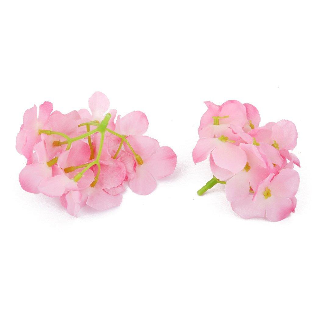 2x 20x hortensien blumen nach hause hochzeit seiden blumentopf deko rosa et ebay. Black Bedroom Furniture Sets. Home Design Ideas