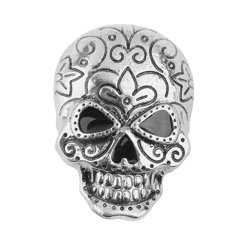Skull Brooch Decoration For Halloween Party Favor Gift Antique Silver C9M7 I7I5