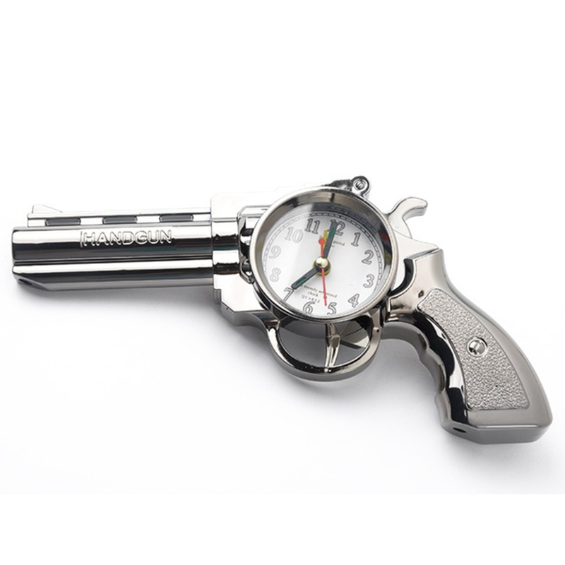 Novelty Pistol Shape Alarm Clock Desk Table Home Office Decor Gifts F5j1 190268452427