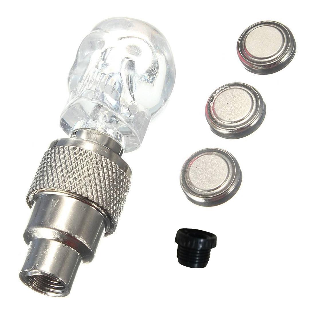 led licht ventilkappe speichenlicht f r fahrrad auto bike felgen reifen weiss et ebay. Black Bedroom Furniture Sets. Home Design Ideas