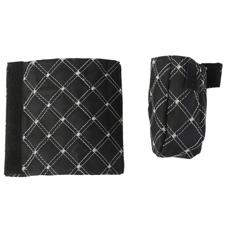 Funda-de-cuero-de-PU-para-Palanca-de-velocidad-y-Freno-de-mano-Negro-Blanc-cv4 miniatura 6