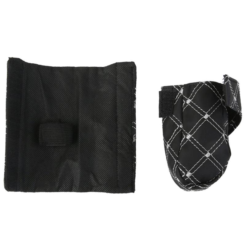Funda-de-cuero-de-PU-para-Palanca-de-velocidad-y-Freno-de-mano-Negro-Blanc-cv4 miniatura 7