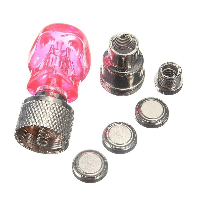 2X-Bouchon-de-Valve-Roue-Pneu-LED-Lampe-Lumineuse-Moto-Bicyclette-Velo-Voitur-14 miniature 5
