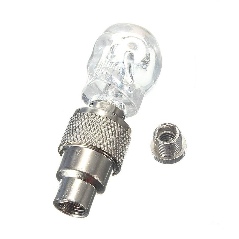 2X-Bouchon-de-Valve-Roue-Pneu-LED-Lampe-Lumineuse-Moto-Bicyclette-Velo-Voitur-14 miniature 7