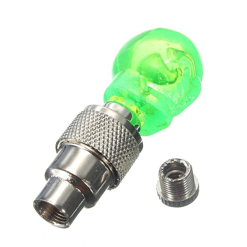 2X-Bouchon-de-Valve-Roue-Pneu-LED-Lampe-Lumineuse-Moto-Bicyclette-Velo-Voitur-14 miniature 10