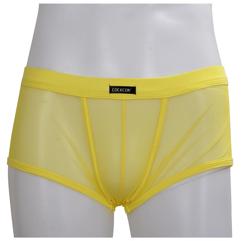 COCKCON-Masculine-Sexy-Mesh-Slim-Breathable-Boxers-Underpants-Z9Z8 thumbnail 5