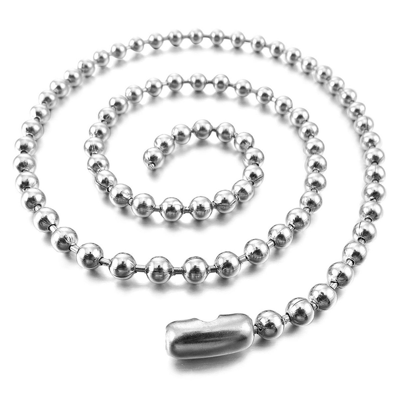 3-2mm-Large-Stainless-Steel-Ball-Pearl-Necklace-Chain-Link-Man-Silver-H9K8