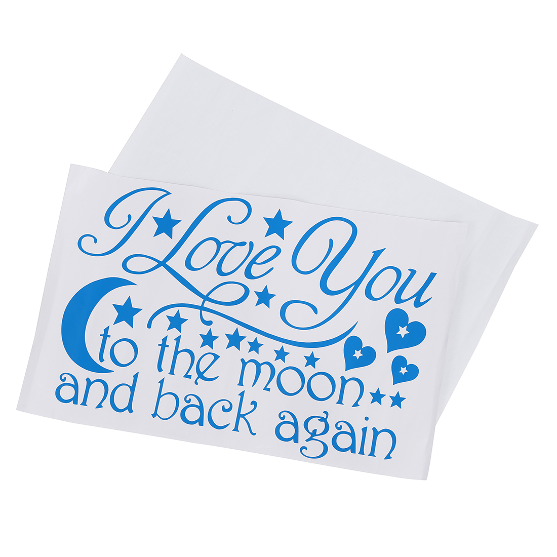 Color art words - I Love You To The Moon Back Again Star Heart Art Words Quotes Vinyl Wall Decals