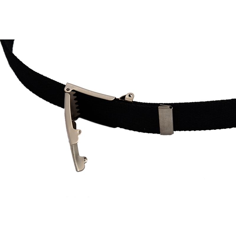 2X-Unisex-Plain-Webbing-Canvas-Metal-Buckle-Belt-T6D3 thumbnail 5