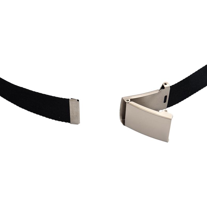 2X-Unisex-Plain-Webbing-Canvas-Metal-Buckle-Belt-T6D3 thumbnail 6