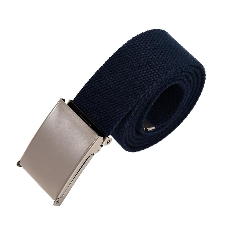 2X-Unisex-Plain-Webbing-Canvas-Metal-Buckle-Belt-T6D3 thumbnail 18