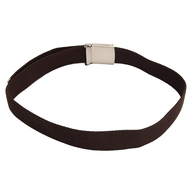 2X-Unisex-Plain-Webbing-Canvas-Metal-Buckle-Belt-T6D3 thumbnail 28