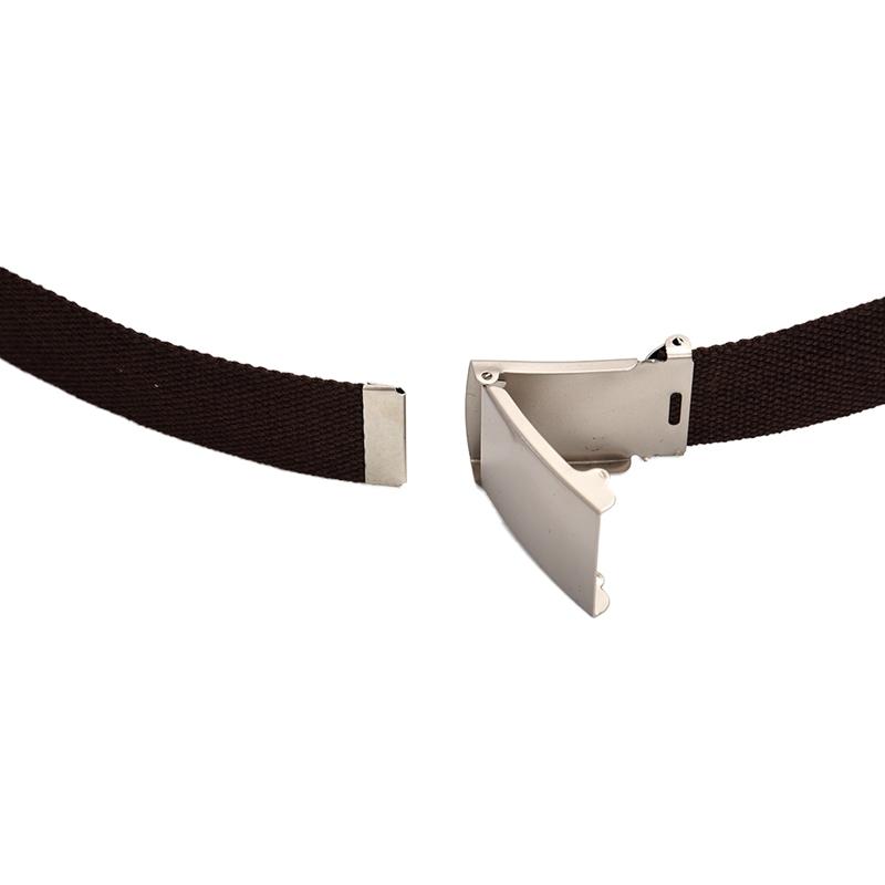 2X-Unisex-Plain-Webbing-Canvas-Metal-Buckle-Belt-T6D3 thumbnail 30