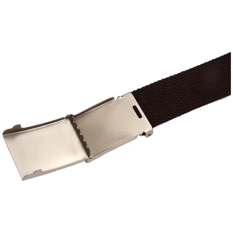 2X-Unisex-Plain-Webbing-Canvas-Metal-Buckle-Belt-T6D3 thumbnail 32