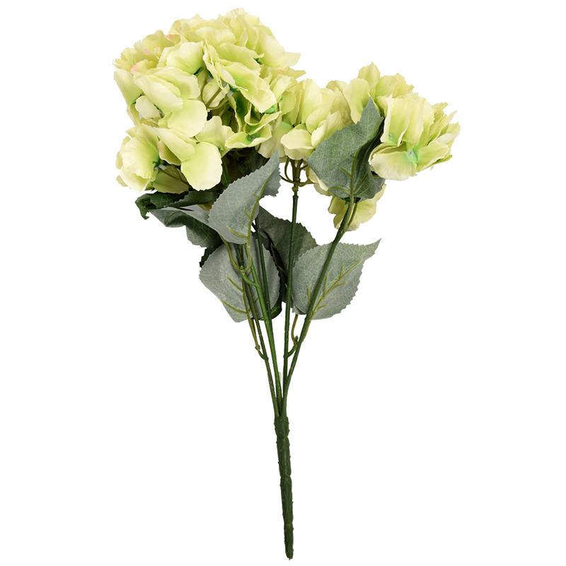1X-Fiore-di-ortensia-artificiale-5-Bouquet-di-grandi-teste-Diametro-7polli-O2Q5 miniatura 3