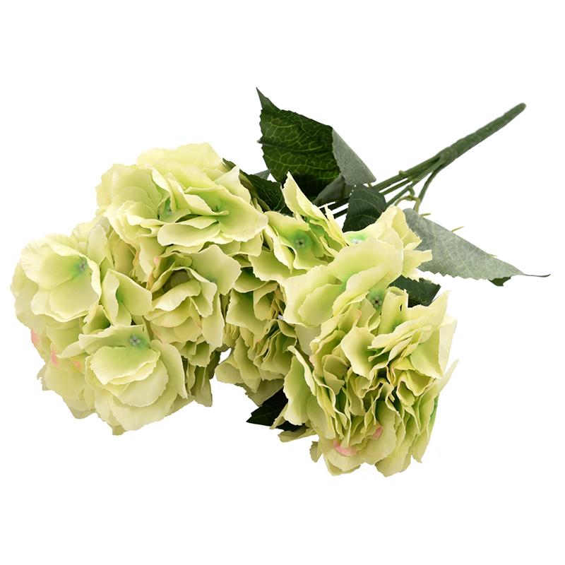 Flor-de-Hortensia-Artificial-5-Cabezas-Grandes-Ramo-Diametro-de-7-Pulgada-Q6P1 miniatura 11