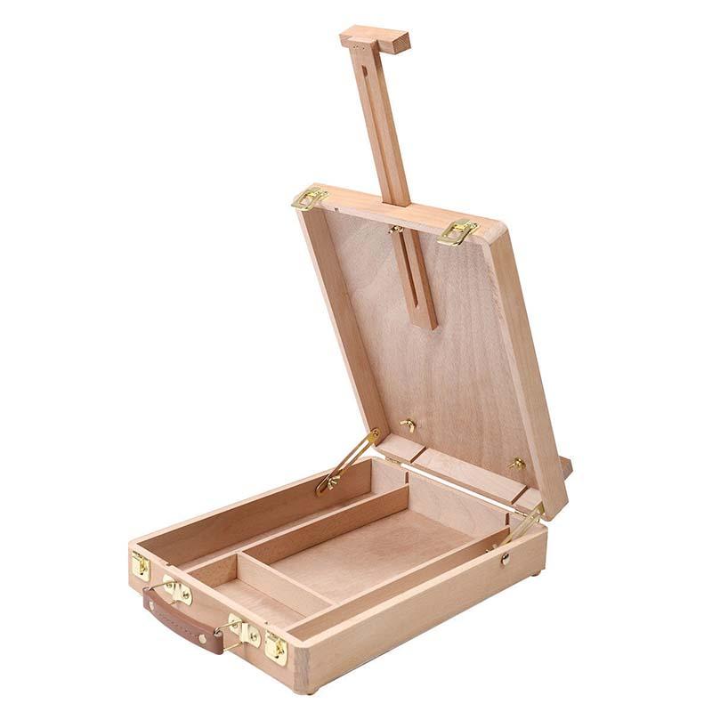 Easel Artiste Craft avec la boite en bois integree Art Dessin Peinture Tabl C2C1