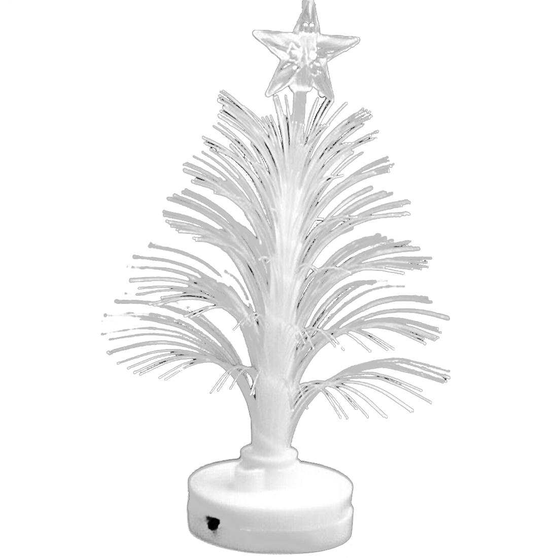 Bunte glasfaser led gluehender weihnachtsbaum mit einem - Glasfaser weihnachtsbaum ...