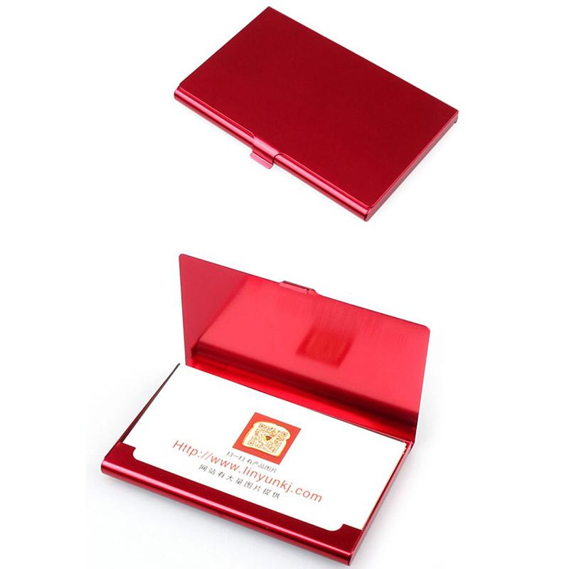 2X-Porte-cartes-de-visite-en-acier-inoxydable-Couverture-de-boite-en-metal-D9H4 miniature 7