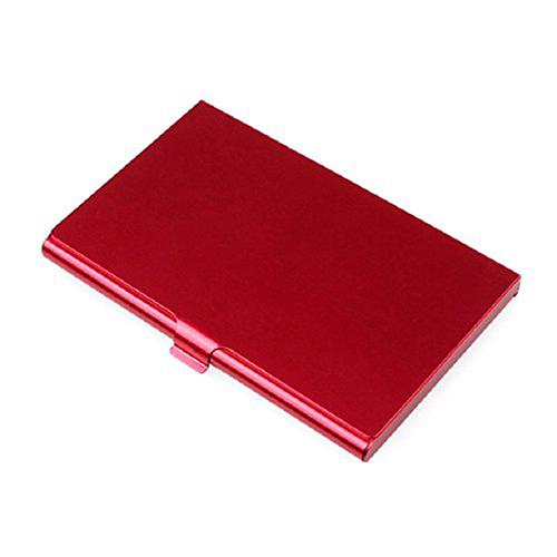 2X-Porte-cartes-de-visite-en-acier-inoxydable-Couverture-de-boite-en-metal-D9H4 miniature 8