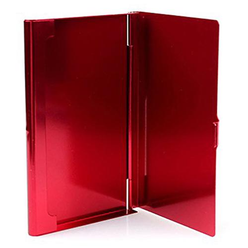 2X-Porte-cartes-de-visite-en-acier-inoxydable-Couverture-de-boite-en-metal-D9H4 miniature 9