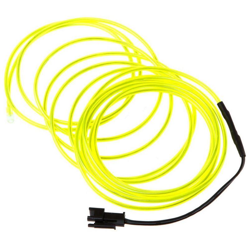 Fil-Electroluminescent-Fil-de-Neon-Lumineux-El-Fil-avec-Controleur-de-Pile-SC miniature 6