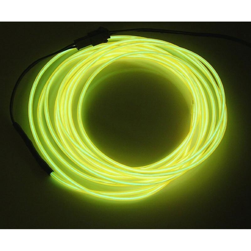 Fil-Electroluminescent-Fil-de-Neon-Lumineux-El-Fil-avec-Controleur-de-Pile-SC miniature 7