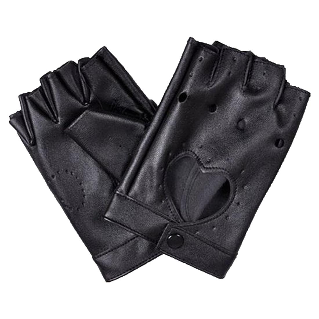 damen pu leder niete fingerlose handschuhe y8 ebay. Black Bedroom Furniture Sets. Home Design Ideas