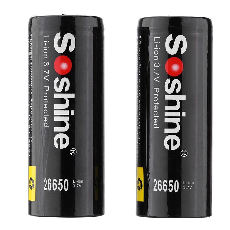 1X-Soshine-2pcs-26650-3-7V-5500mAh-Protected-Rechargeable-Li-ion-Lithium-BaY4J1