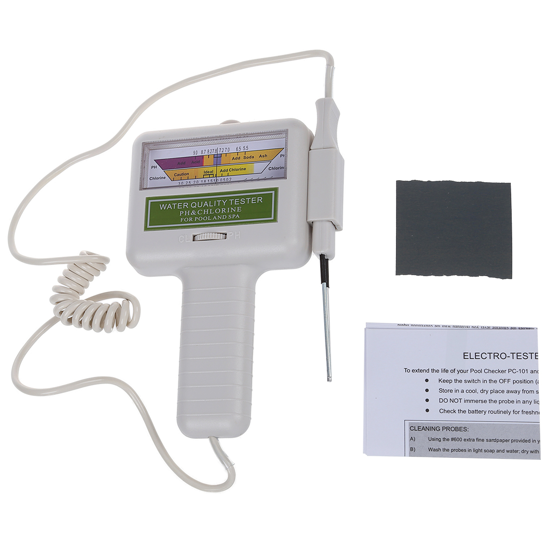 Water Quality Ph Cl2 Chlorine Tester Level Meter For Swimming Pool W8j1 Ebay