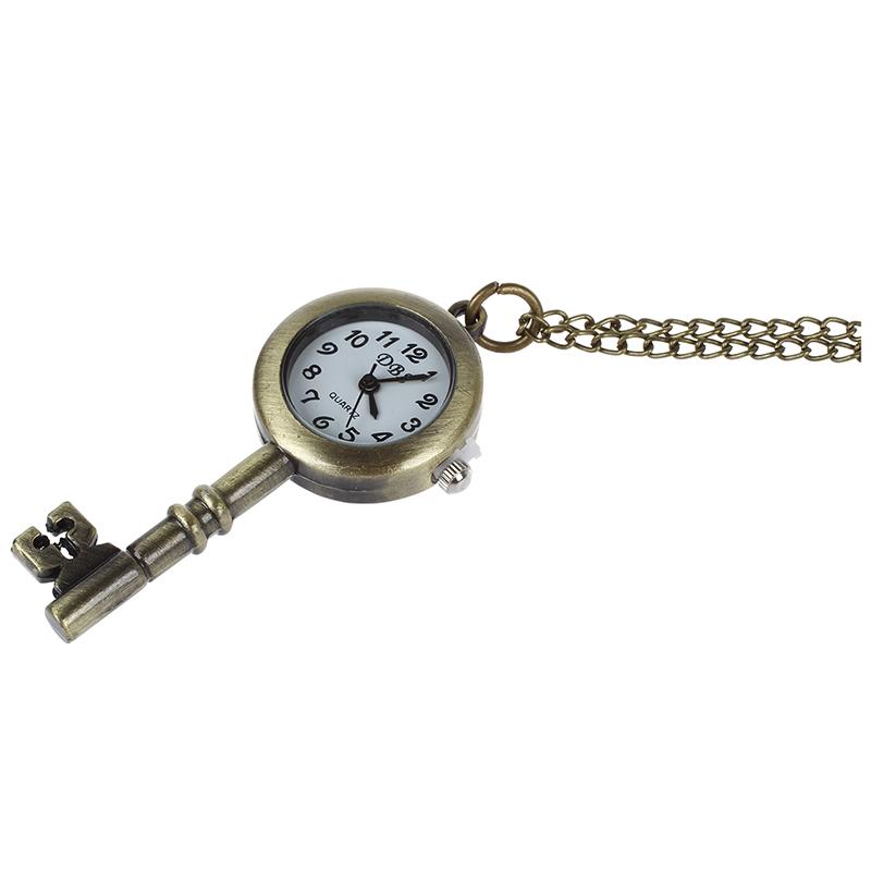 3X-Reloj-de-Bosillo-Laton-Antiguo-Diseno-de-Llave-J9P5-E6