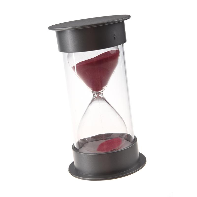 Sablier-de-cristal-en-plastique-Horloge-de-sable-de-30-minutes-Sablier-de-decora miniature 3