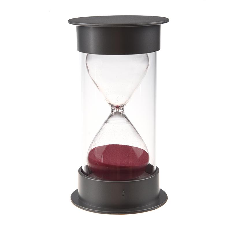 Sablier-de-cristal-en-plastique-Horloge-de-sable-de-30-minutes-Sablier-de-decora miniature 5