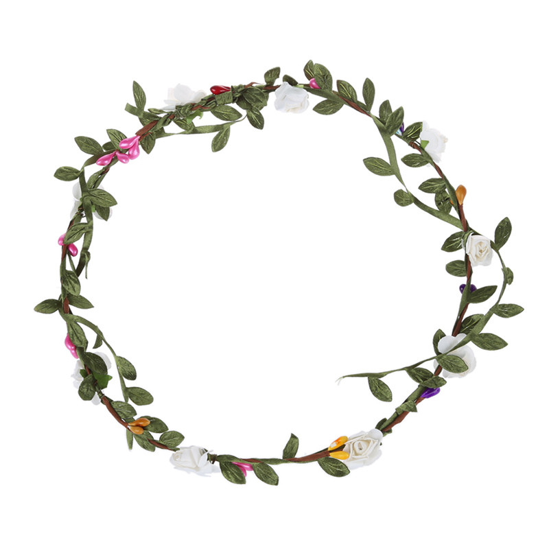 3X-Lady-Boho-Floral-Flower-Festival-Wedding-Garland-Forehead-Hair-Head-Band8M2 thumbnail 6