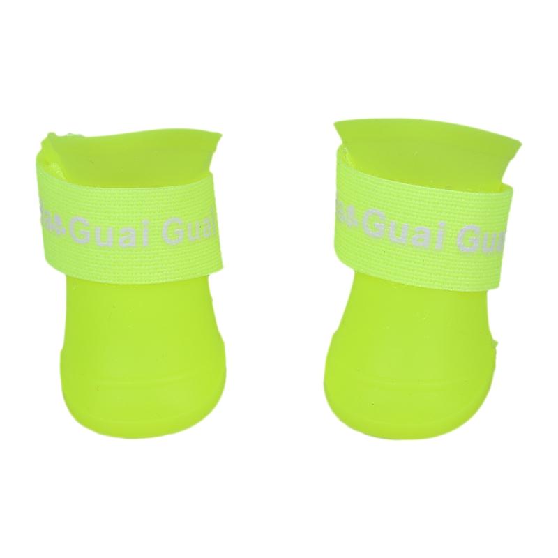 Zapatos-de-mascota-Botines-de-goma-Botas-de-lluvia-impermeable-de-perro-Q1Q8 miniatura 13
