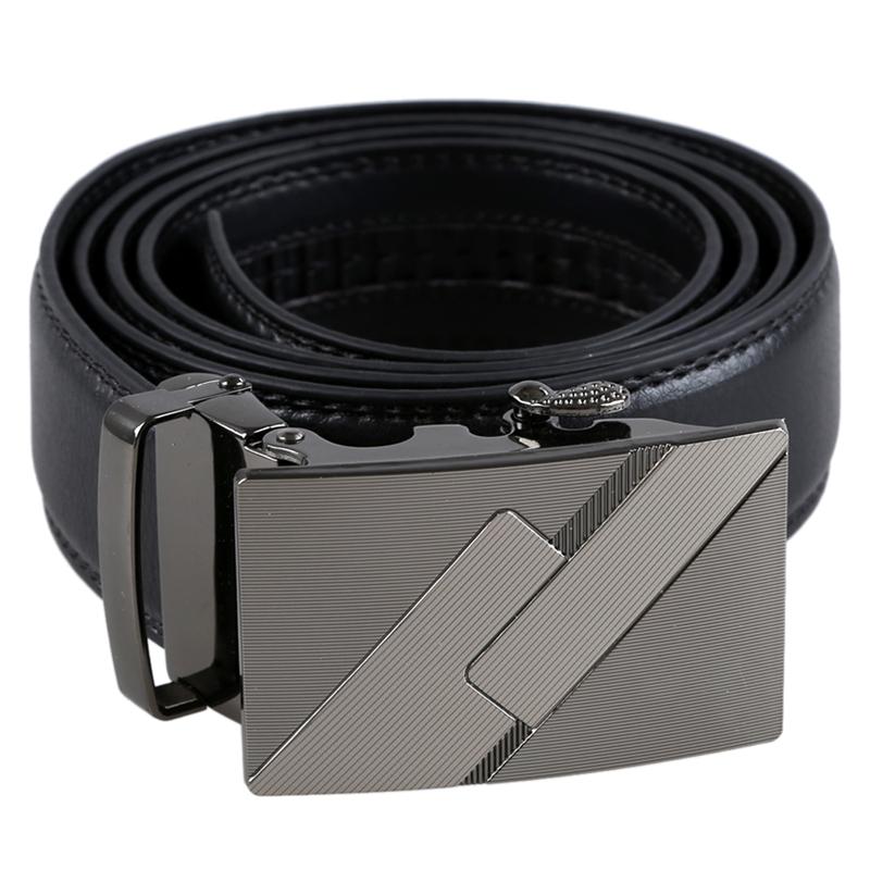 Para-hombre-de-cuero-Hebilla-automatica-cinturones-de-negocios-de-lujo-6-M6S7 miniatura 4