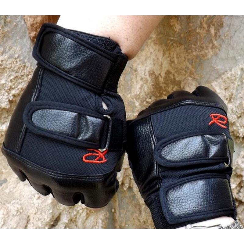 Gants-de-demi-doigts-antiderapant-en-PU-cuir-pour-course-de-velo-sports-en-Z2M1 miniature 4