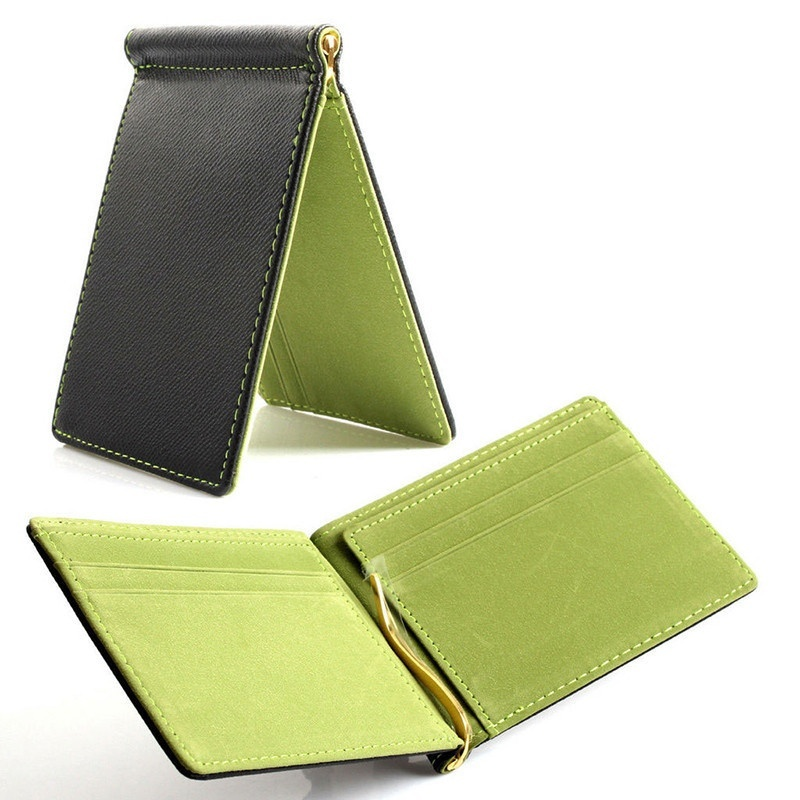 Faux-Leather-Slim-Mens-Credit-Card-Wallet-Money-Clip-Contract-Color-Simple-O8B8 thumbnail 19