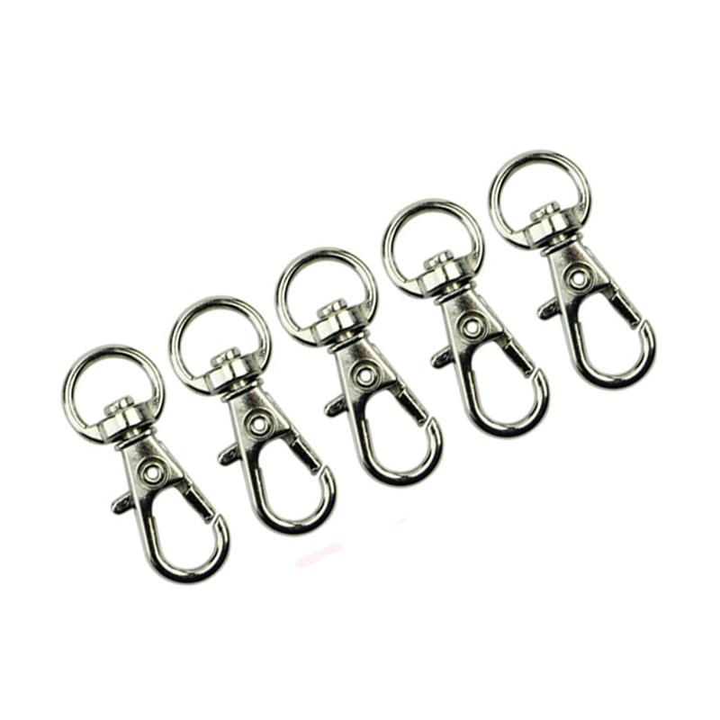 10-pcs-Fermoir-de-mousqueton-en-metal-de-30mm-crochet-porte-cles-E3W9