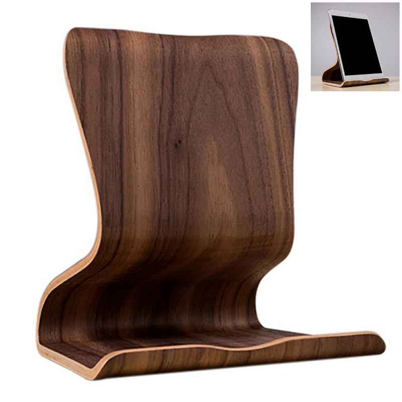 universal holz tablet pc staender geraetehalter halterung. Black Bedroom Furniture Sets. Home Design Ideas