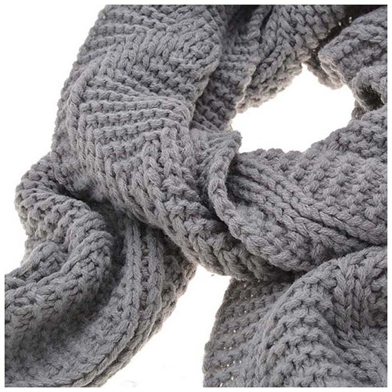 Womens-Stylish-Rhombus-knitting-Hairball-Hat-Scarf-Set-C1N4 thumbnail 12