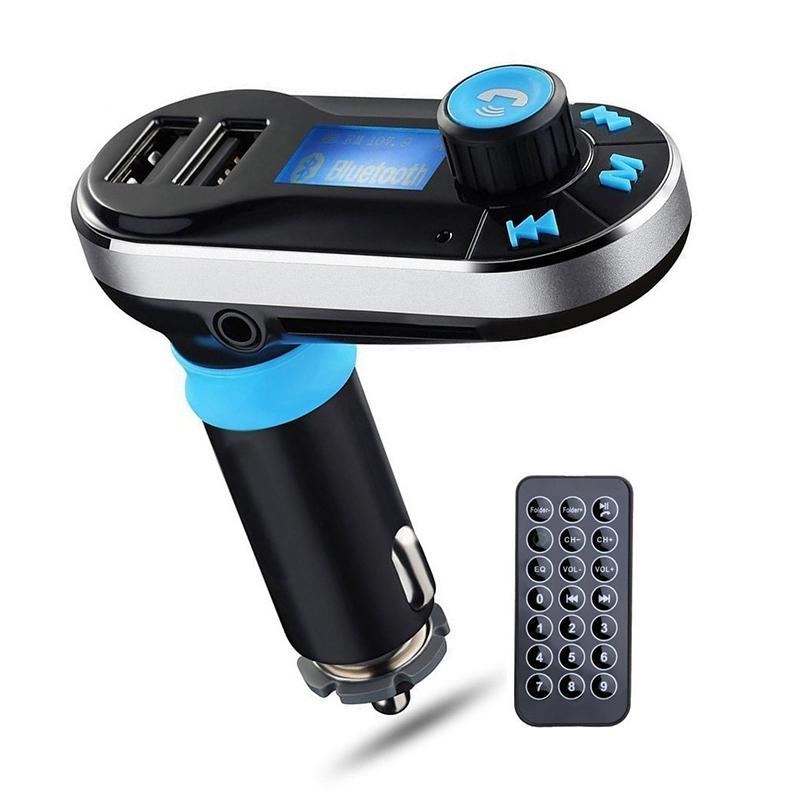 Bluetooth-BT66-Transmetteur-FM-lecteur-MP3-argent-sans-fil-de-multifonction-F1Y7 miniature 3