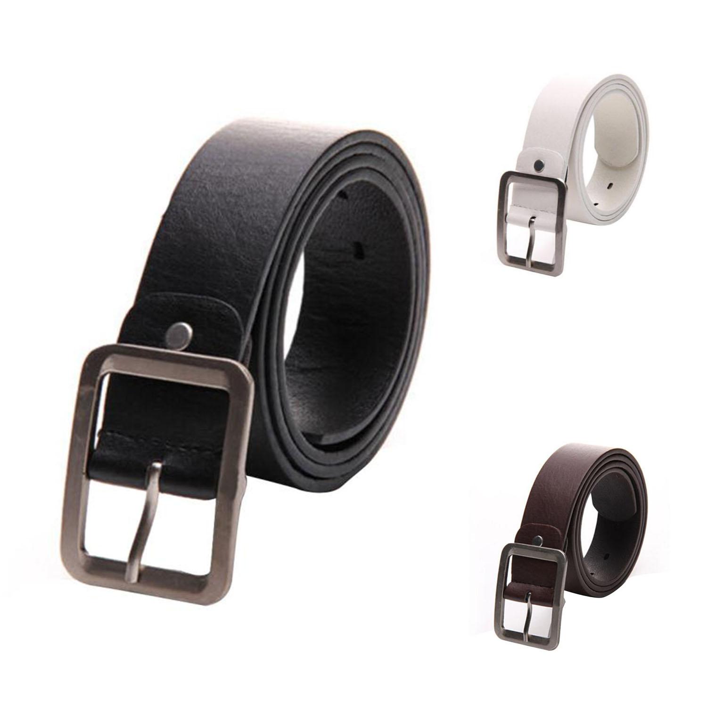 Casual Men/'s Faux Leather Belt Pin Belts Waistband Buckle Waist Strap Coffee GA
